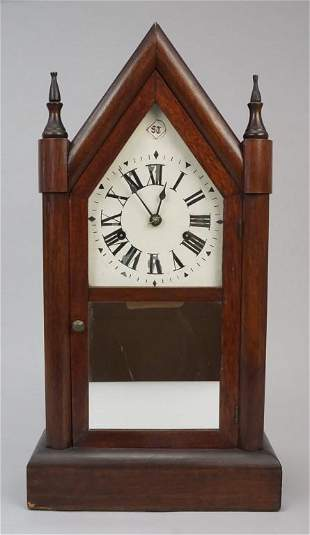 Vintage Mantel Spring Clock with Pendulum