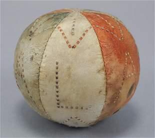Antique Seal Skin Hand Made Eskimo Inuit Ball
