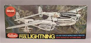Guillows P38L Lightning US WWII Fighter Model
