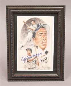 Autographed Joe DiMaggio Framed Print