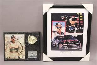 2 NASCAR Dale Earnhardt Sr Plaques