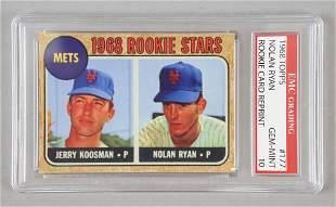 1968 Topps 177 Nolan Ryan Rookie Reprint