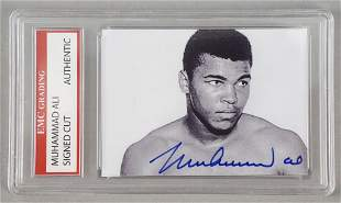 Boxer Muhammad Ali Signed Cut Card