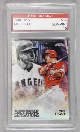 2018 Topps SS6 Mike Trout Gem Mint 10 Card