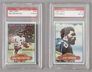 2 1980 Topps Graded Football Cards