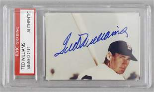 Ted Williams Boston Red Sox Signed Cut Card
