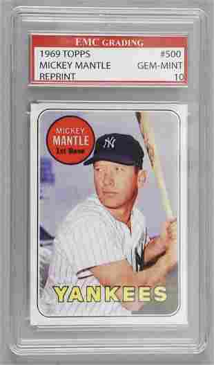 1969 Topps 500 Mickey Mantle Reprint Card