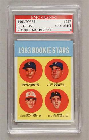 1963 Topps 537 Pete Rose Rookie Card Reprint
