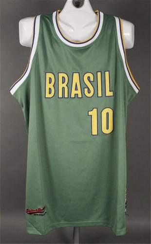 Brasil 10 Basketball Size 56 Olympic Jersey