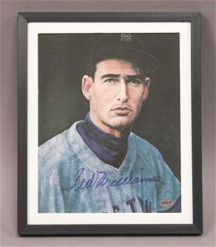 Autographed Ted Williams Framed Print