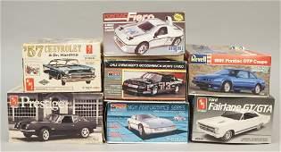 7 Model Car Kits  Studebaker  Fairlane  Fiero