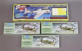 4 Model Airplane Kits  P47  P510