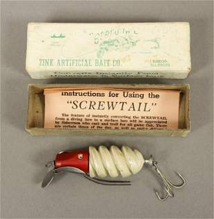 Vintage Screwtail Lure with Paper & Box