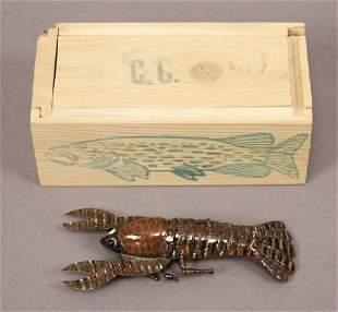 Carl Christensen Crayfish Decoy #193 - Wood Box