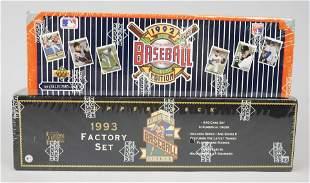 1992 1993 Upper Deck Baseball Cards Factory Sets