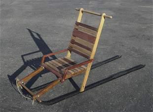 Kicksled Dog Sled Wooden Seat