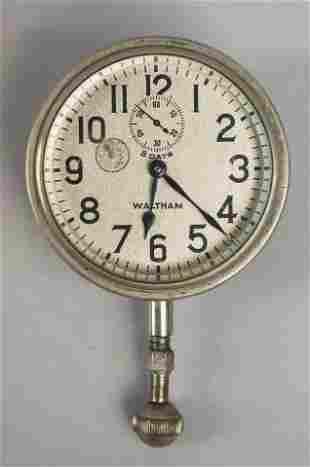 Waltham 8 Days Vintage Automobile Clock