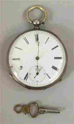 Antique Ancer Quinzine Rubis Pocket Watch