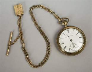 Elgin National Watch Company Watch Box with Chain