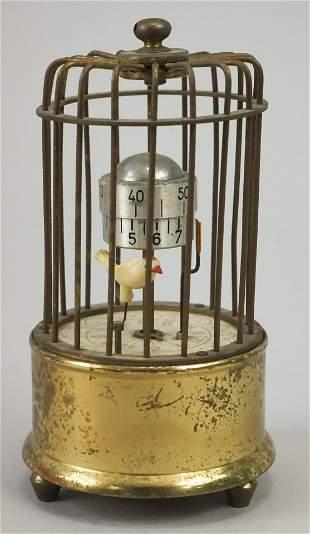 German Kaiser Bird in Cage Vintage Alarm Clock