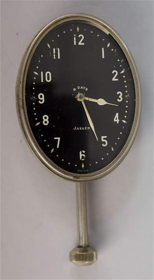 Antique Jaeger 8 Days Swiss Car Clock