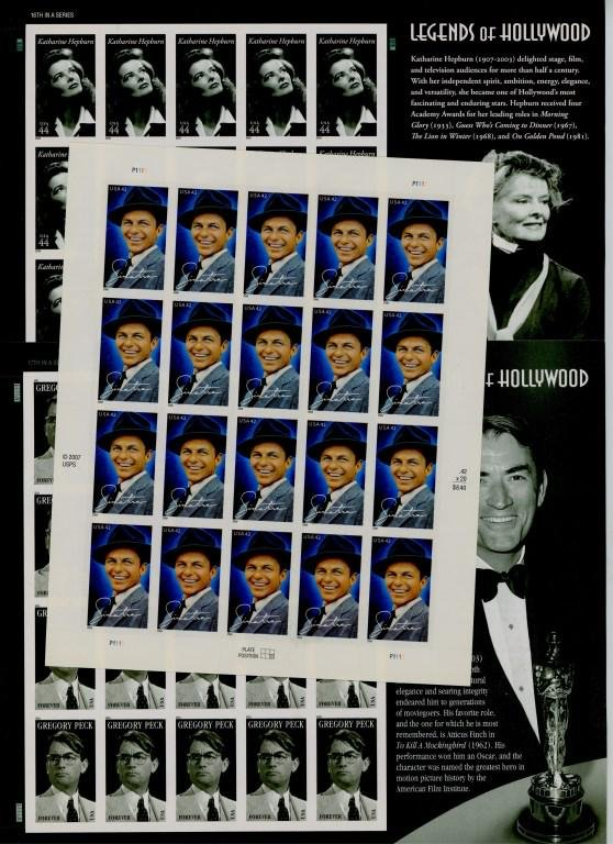 Legends of Hollywood Collectible Stamp Sheets