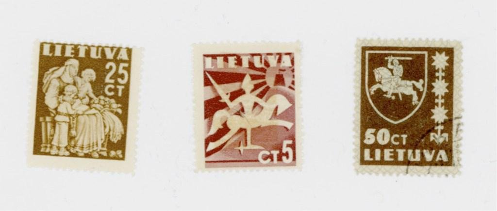 3 Lithuania Stamps from 1919 - 1940