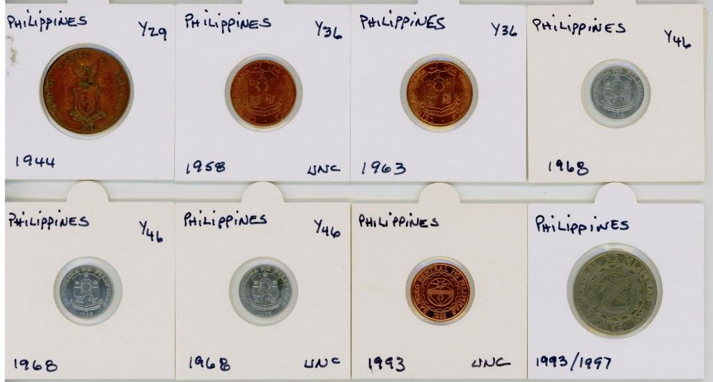 1940's - 90's Philippines Collectible Coins