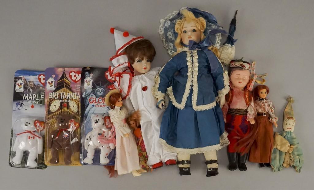 Assorted Dolls & TY Beanie Babies