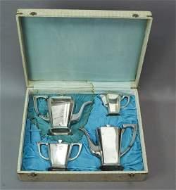 Sterling Silver 950 Esquire 5 Piece Tea Set