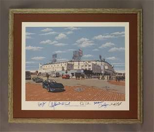 Detroit Tigers Stadium Framed, Signed by Players