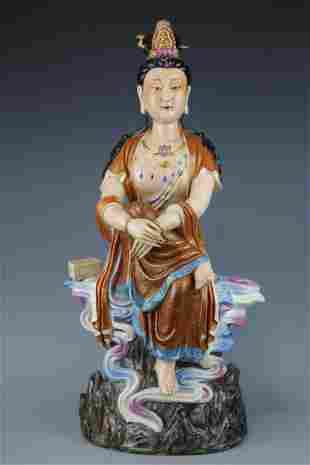 A Famille Rose Guanyin