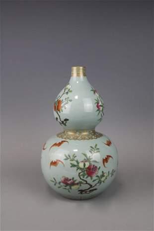 Qianlong Mark A Famille Rose Vase