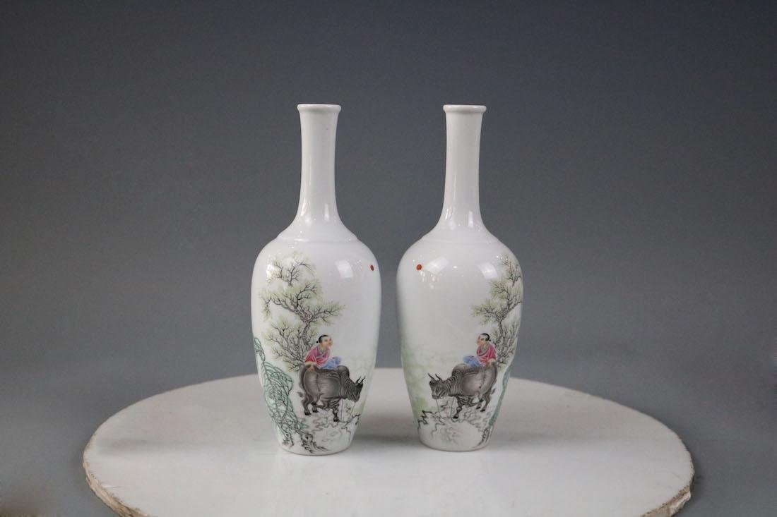 Qianlong Mark,A Pair Of Enamel Decorate Bowls