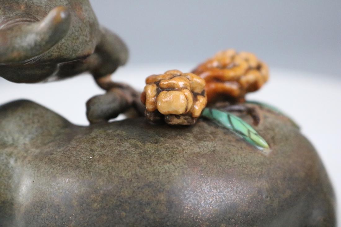 Qianlong Mark, A Tea Glazed Deer Sculpture - 5