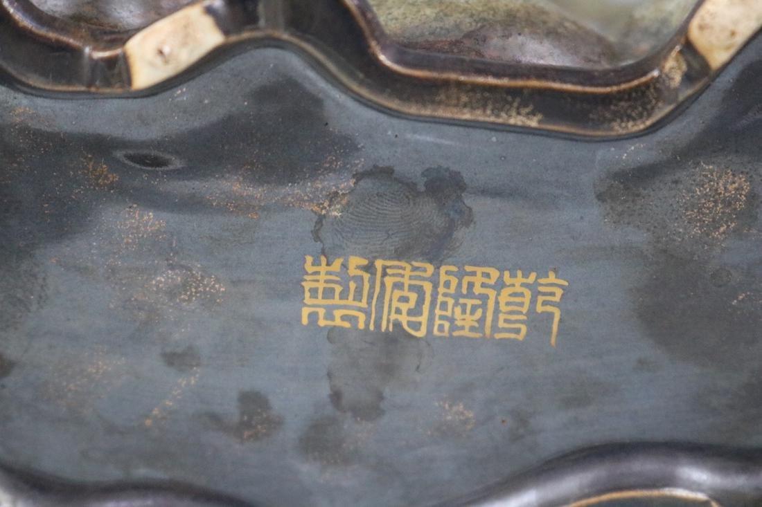 Qianlong Mark, A Tea Glazed Deer Sculpture - 8