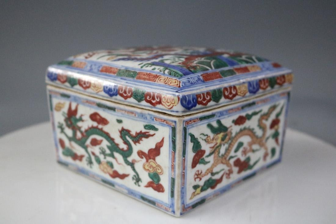 Wanli Mark,A Famille Verte Box - 2