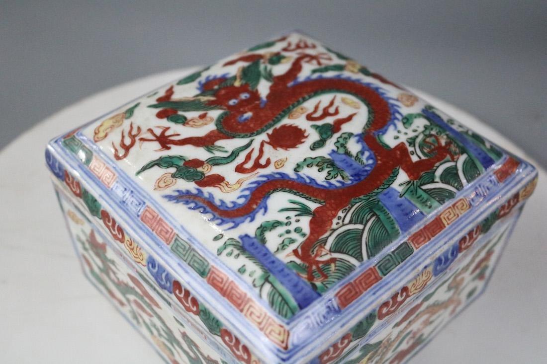 Wanli Mark,A Famille Verte Box - 3