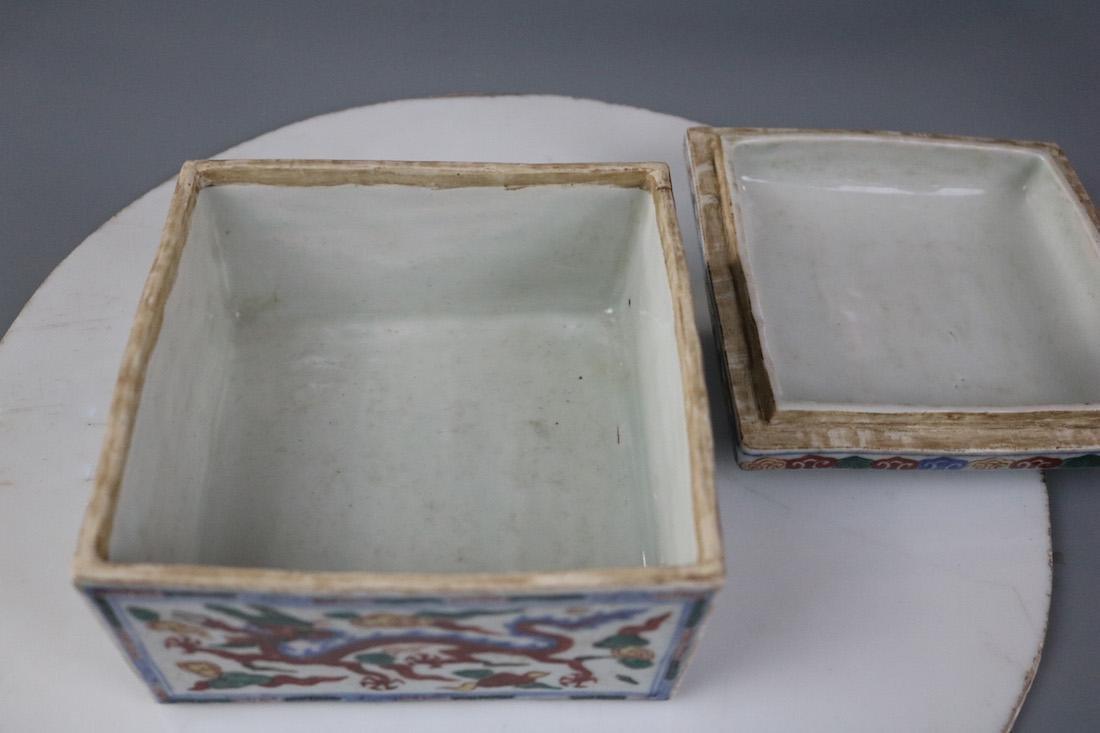 Wanli Mark,A Famille Verte Box - 8