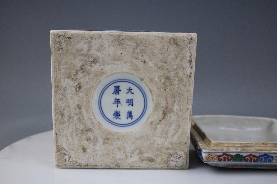 Wanli Mark,A Famille Verte Box - 9