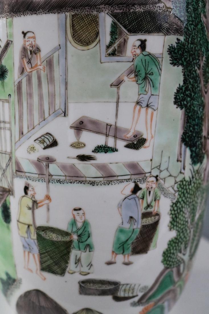 Kangxi Mark,A Famille Verte Vase - 6