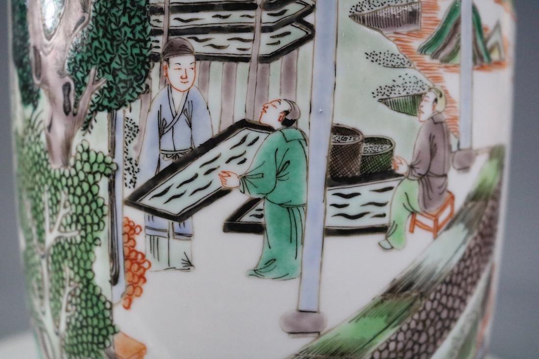 Kangxi Mark,A Famille Verte Vase - 7