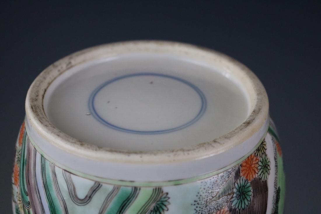 Kangxi Mark,A Famille Verte Vase - 9