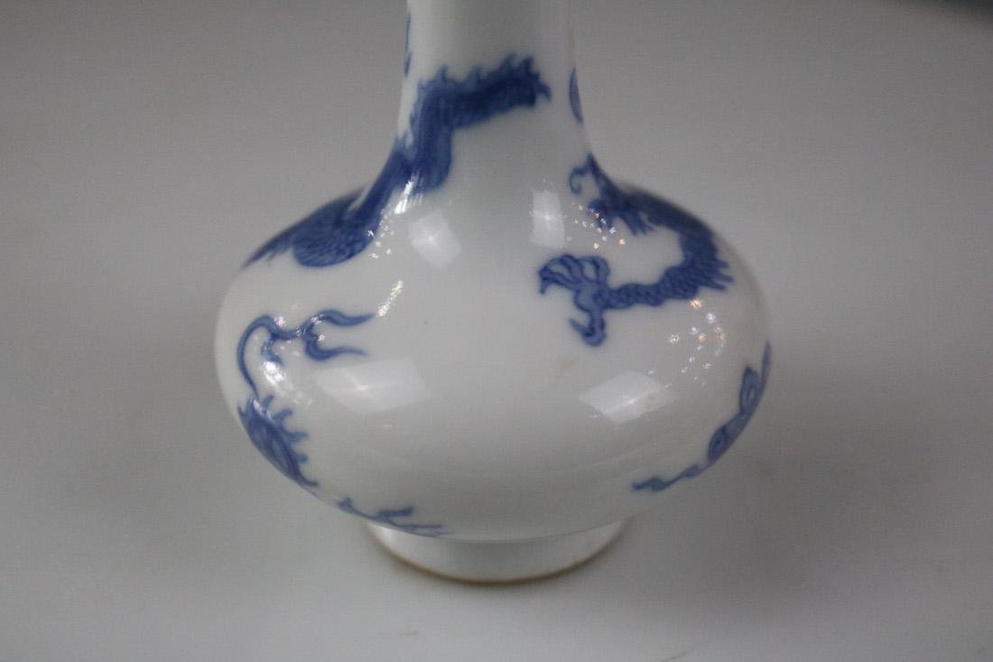 Kangxi Mark, A Blue And White Vase - 6