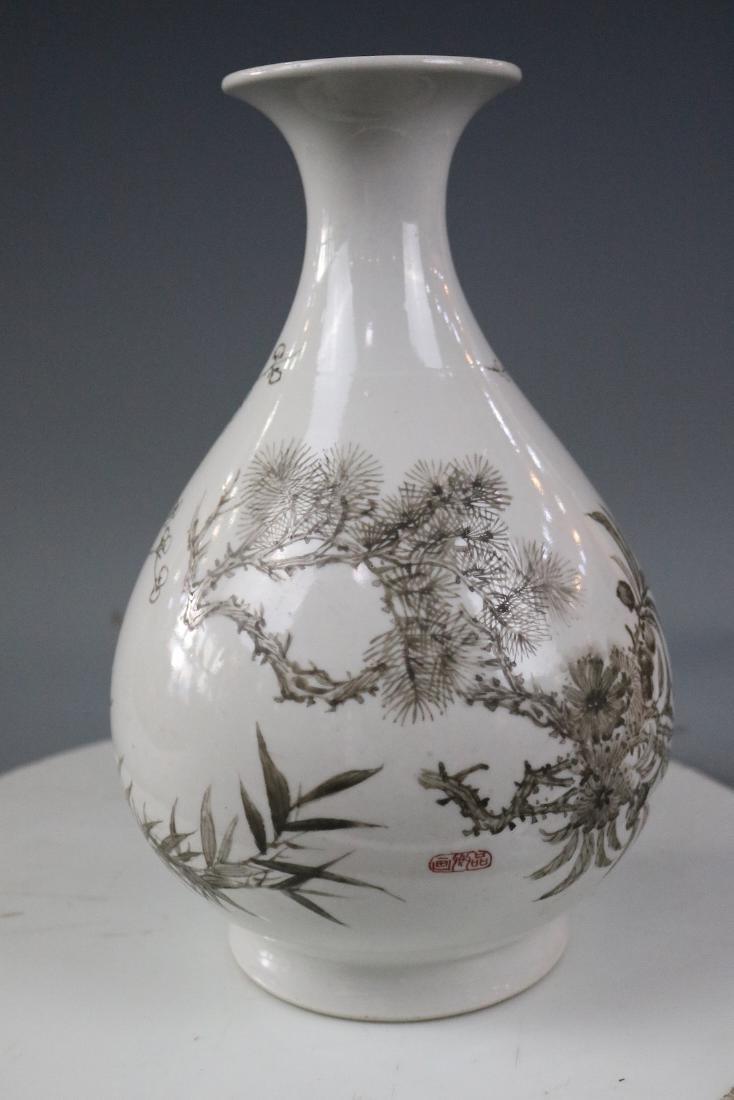 Guangxu Mark,A Yuhuchun Vase In Ink Style - 2