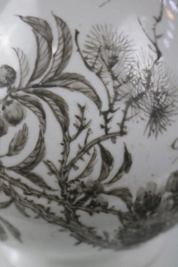 Guangxu Mark,A Yuhuchun Vase In Ink Style - 4
