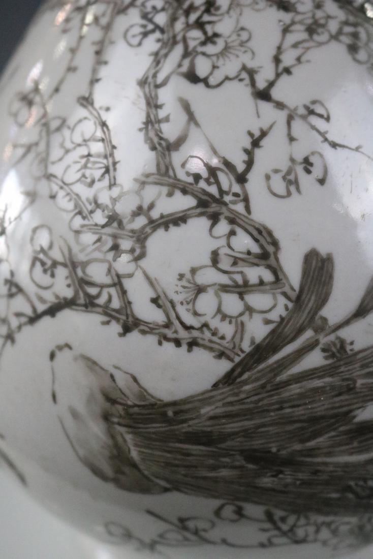 Guangxu Mark,A Yuhuchun Vase In Ink Style - 5