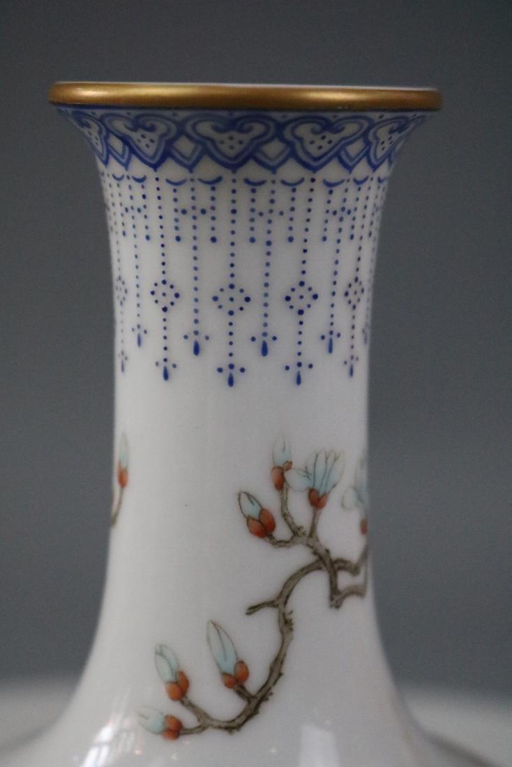 Qianlong Mark,An Enamel Decorate Vase - 4