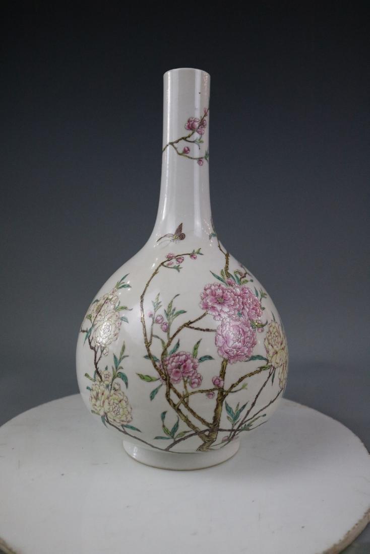 Qianlong Mark,A Famille Rose Vase