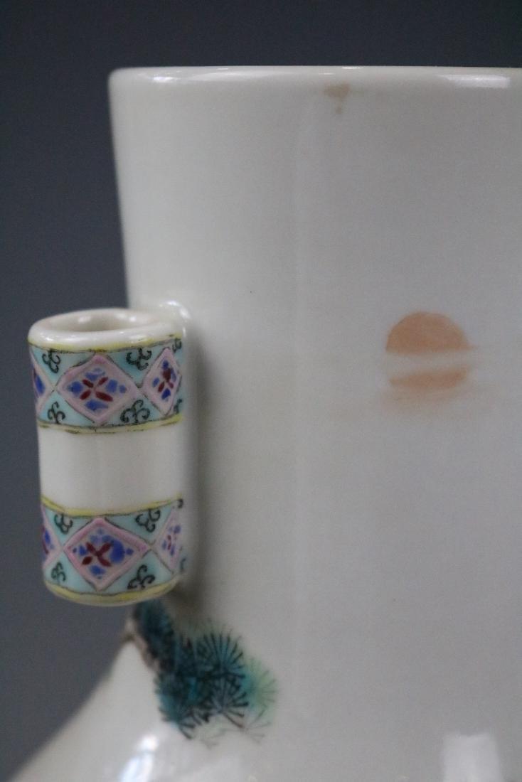 Yongzheng Mark,A Famille Rose Vase With Human Pattern - 8